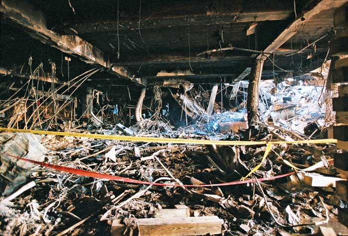 Massive Amount Of Debris Inside Pentagon